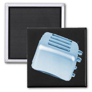 Vintage Retro Toaster Design - Blue Magnets