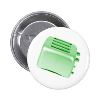 Vintage Retro Toaster Design - Green Pins