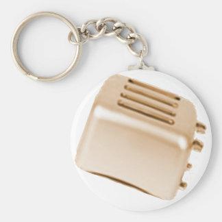 Vintage Retro Toaster Design - Orange Basic Round Button Key Ring