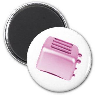 Vintage Retro Toaster Design - Pink Magnets