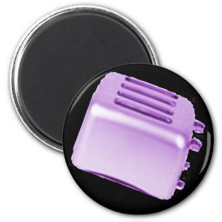 Vintage Retro Toaster Design - Purple Magnets