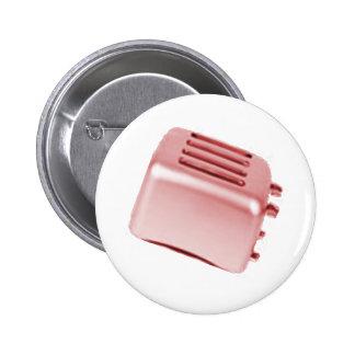 Vintage Retro Toaster Design - Red Pinback Button