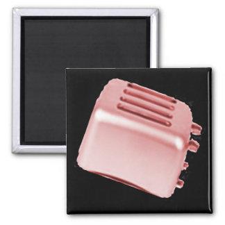 Vintage Retro Toaster Design - Red Magnets