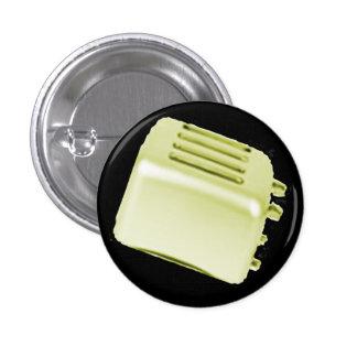 Vintage Retro Toaster Design - Yellow Pin