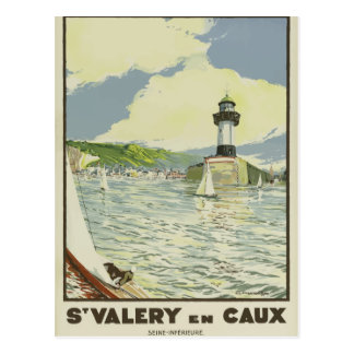 Vintage retro travel postcard France Seine