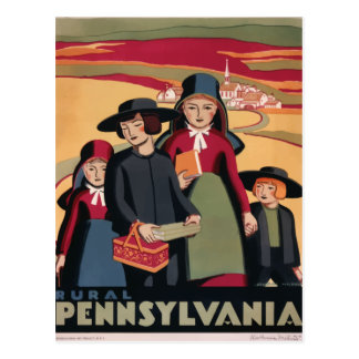 Vintage retro travel postcard Pennsylvania USA