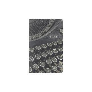 Vintage Retro Typewriter   Custom Pocket Moleskine Notebook