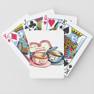 Vintage Retro Valentine's Day Bicycle Playing Cards