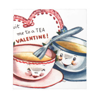 Vintage Retro Valentine's Day Notepad