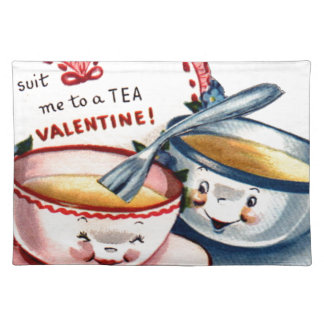 Vintage Retro Valentine's Day Placemat