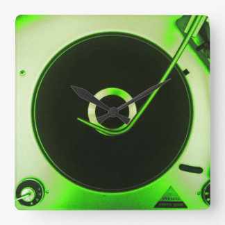 Vintage Retro Vinyl Record Player Clock