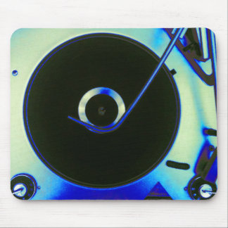 Vintage Retro Vinyl Record Player Mouse Pad