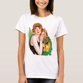 Vintage Retro Women 20s Deco Flapper Girl Pin Up T-Shirt
