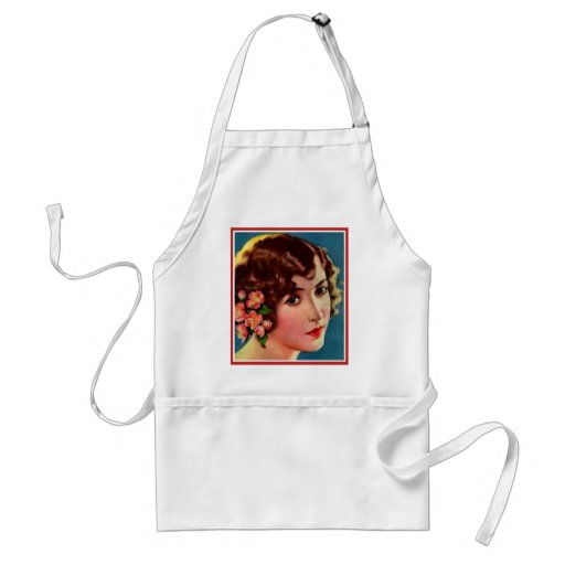 Vintage Retro Women 20s Hollywood Bessie Love Aprons