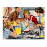 Vintage Retro Women Ad Let's Bake a Cake Post Cards