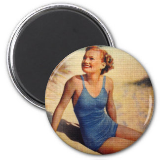 Vintage Retro Women Forties Swim Suit Beauty Magnet