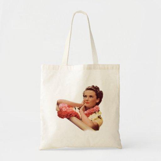 Vintage Retro Women Woman Hawaii Vacation Tote Bags