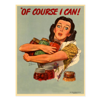 Vintage Retro Women WW2 Of Course I Can Post Cards