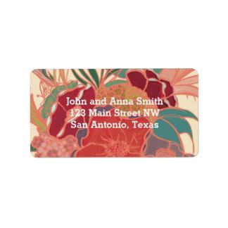 Vintage Return Address Labels - Tropical Floral