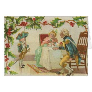 Vintage Revolutionary War Christmas Card
