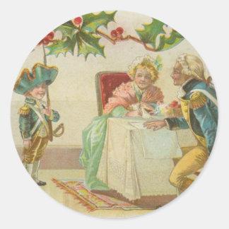 Vintage Revolutionary War Christmas Classic Round Sticker