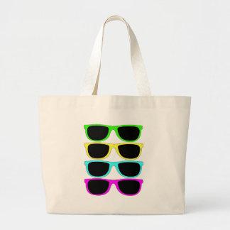 Vintage Rgb Fluo Sunglasses Jumbo Tote Bag