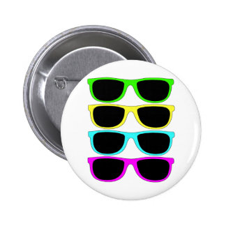 Vintage Rgb Fluo Sunglasses Pinback Buttons