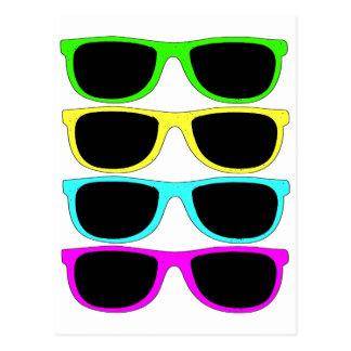 Vintage Rgb Fluo Sunglasses Postcard