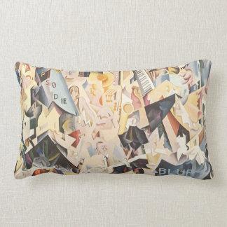 Vintage Rhapsody in Blue Art Deco Jazz Music Throw Pillows