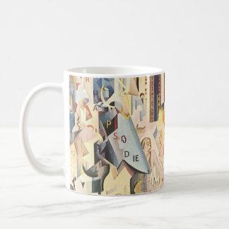 Vintage Rhapsody in Blue Art Deco Jazz Music Coffee Mug