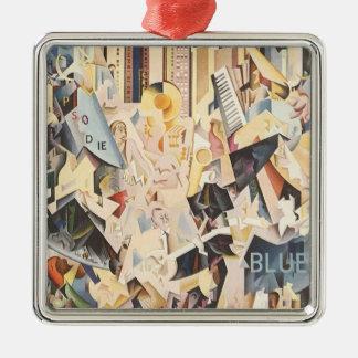Vintage Rhapsody in Blue Art Deco Jazz Music Christmas Tree Ornament
