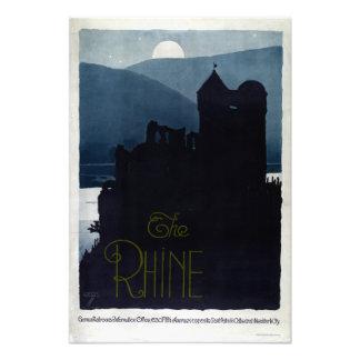 Vintage Rhine Castle European Travel Photo Print