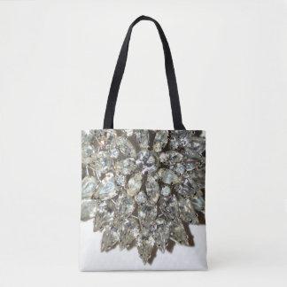 Vintage Rhinestone Diamond Bling Pattern Tote Bag