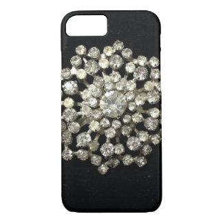 Vintage Rhinestones On Black Velvet iPhone 7 Case