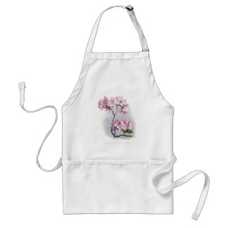 Vintage Rhododendron Flowers Standard Apron