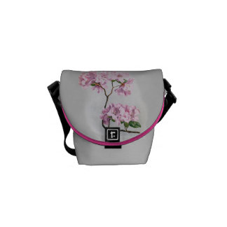 Vintage Rhododendrons Graphic Courier Bags