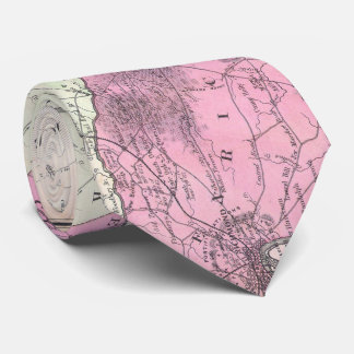 Vintage Richmond & Tidewater Virginia Map (1862) Tie