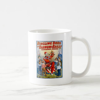 Vintage Ringling Brothers Clown Circus Poster Kids Coffee Mug