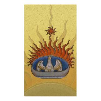 Vintage Rising Phoenix Mythological Firebird Pack Of Standard Business Cards