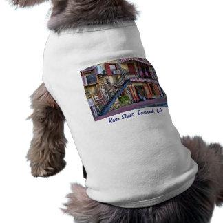 Vintage River Street, Savannah, Georgia Doggie T Shirt