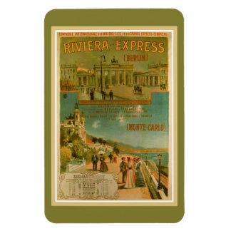 Vintage Riviera Express Berlin Amsterdam Nice Rectangular Photo Magnet