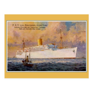 Vintage RMS Strathmore mail and passenger liner Postcard