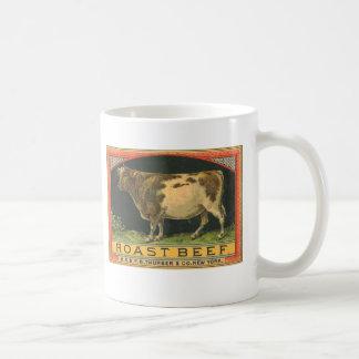 Vintage Roast Beef Advertisement Basic White Mug