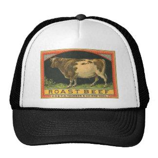 Vintage Roast Beef Advertisement Trucker Hats