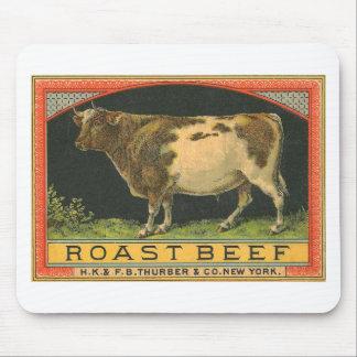 Vintage Roast Beef Advertisement Mouse Pad