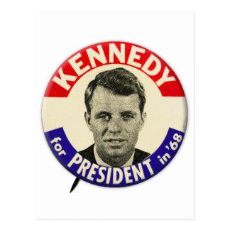 Vintage Robert Kennedy For President Pin 1968 Postcard
