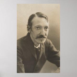 Vintage Robert Louis Stevenson Photo Portrait Poster