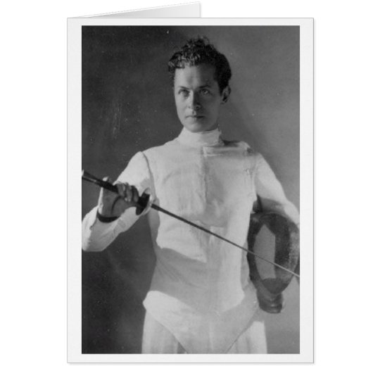Vintage Robert Montgomery Fencing! Note Card