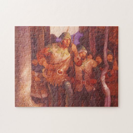 Vintage Robin Hood and His Merry Men by NC Wyeth Jigsaw Puzzle