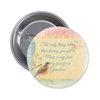 Vintage Robin Mother s Day Button